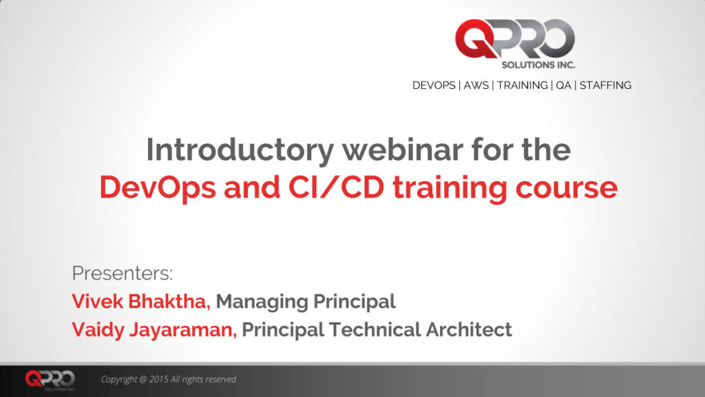 PowerPoint Presentation - DevOps Introduction webinar