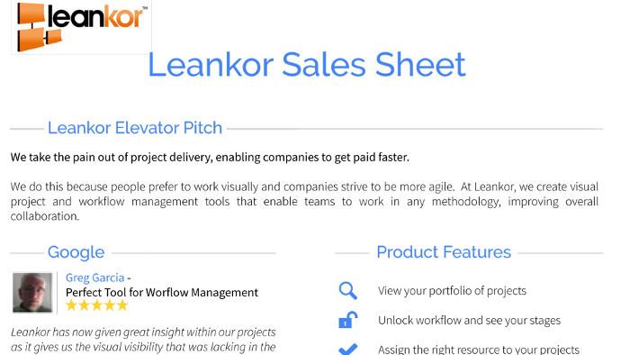 Leankor Sales Presentation   VisualHackers
