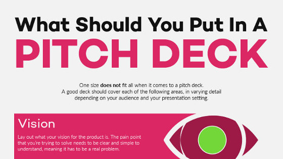 infographic how to create a great pitch deck visualhackers
