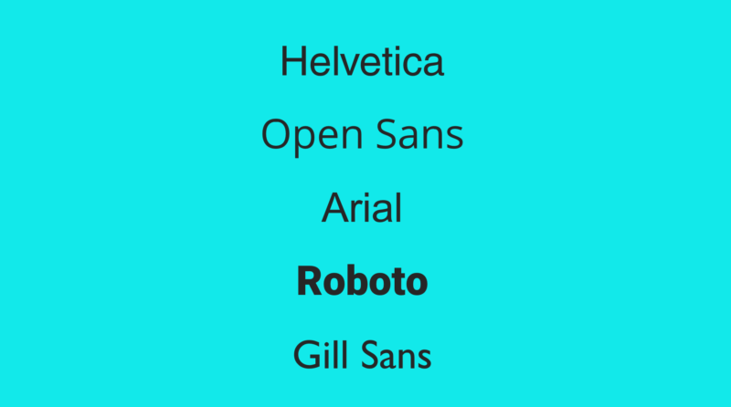 Using Typography In Your Presentation - Sans Serif Fonts